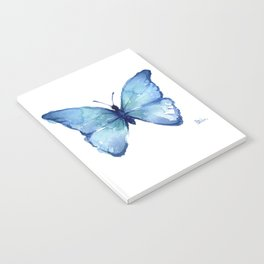 Blue Butterfly Watercolor Notebook