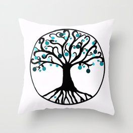 """Tree of Life"",Artistic hand drawing, with Graphic Artwork,Throw Pillow,Duvet Cover,Bed spread,Frame Throw Pillow"