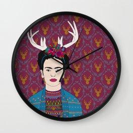 DEER FRIDA Wall Clock