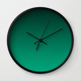 NEW FALL 2016 PANTONE COLOR LUSH MEADOW OMBRE Wall Clock