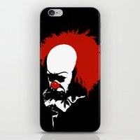 pennywise iPhone & iPod Skins featuring Pennywise by KlatuCorp