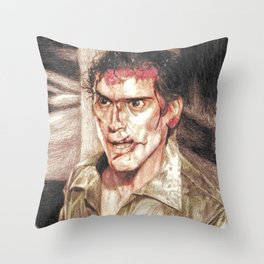 Ash from Evil Dead II (2) by Aaron Bir Throw Pillow