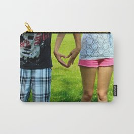 Makers of Love- A couple making a heart with their hands Carry-All Pouch
