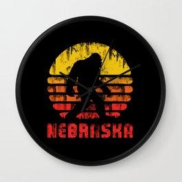 Bigfoot Nebraska State Wall Clock