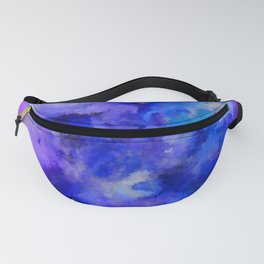Abstract Art Pour - Blue, Purple and Grey Fanny Pack