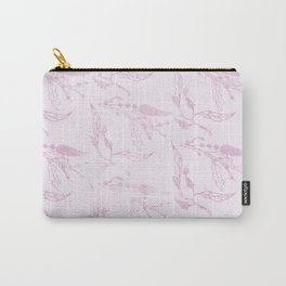 Blush pink girly modern elegant floral Carry-All Pouch