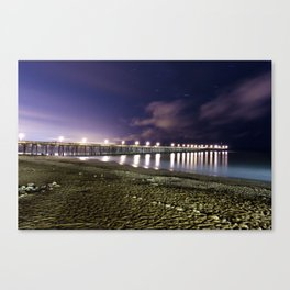 Ventura pier, CA. night landscape Canvas Print