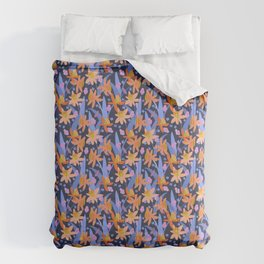 Daffodil Days in Navy Comforters