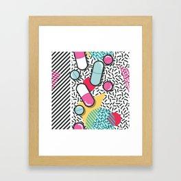 Pills pattern 018 Framed Art Print