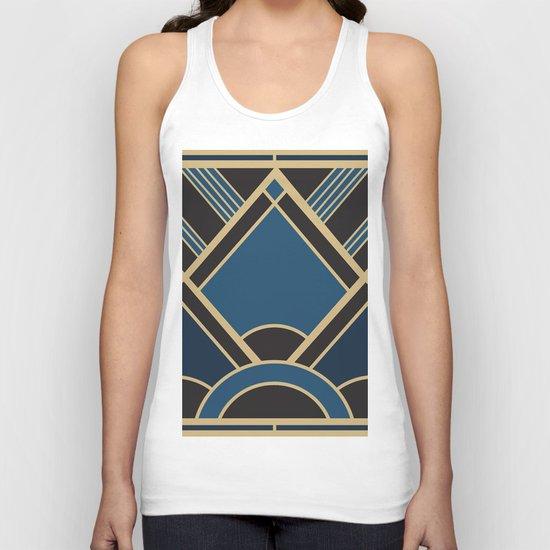 Art Deco New Tomorrow In Blue Unisex Tank Top