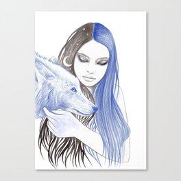 Blue Light Canvas Print