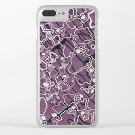 Cluttered Growth Clear iPhone Case