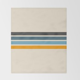 Vintage Retro Stripes Throw Blanket