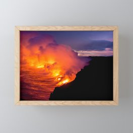 Sea of Flames Framed Mini Art Print