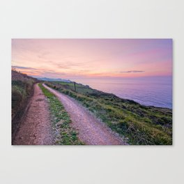 Road to sunset Canvas Print