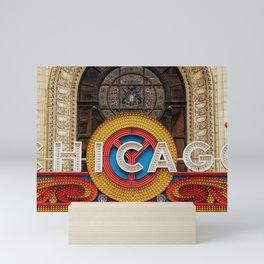 Chicago letters Mini Art Print