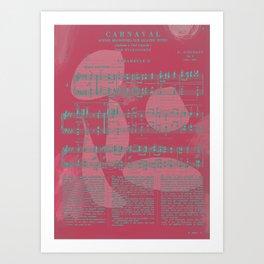 Schumann Sheet Musical - Carnaval Art Print