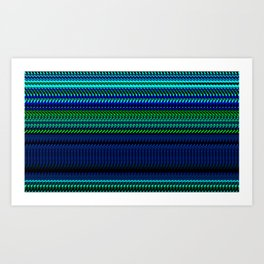 Nautical Rag Weave by Chris Sparks Art Print