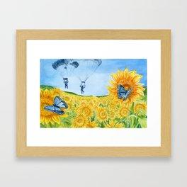Blue Butterflies Framed Art Print