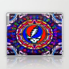 Grateful Dead 'Steal Your Face' Colorful Mandala Psychedelic Skeleton Tapestry Laptop & iPad Skin