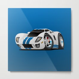 American Supercar Cartoon Metal Print