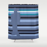 depression Shower Curtains featuring A Flood of Emotions: Depression [Revisited] by BRENT PRUITT