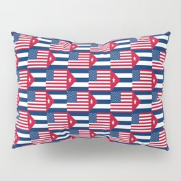 Mix of flag : usa and Cuba Pillow Sham