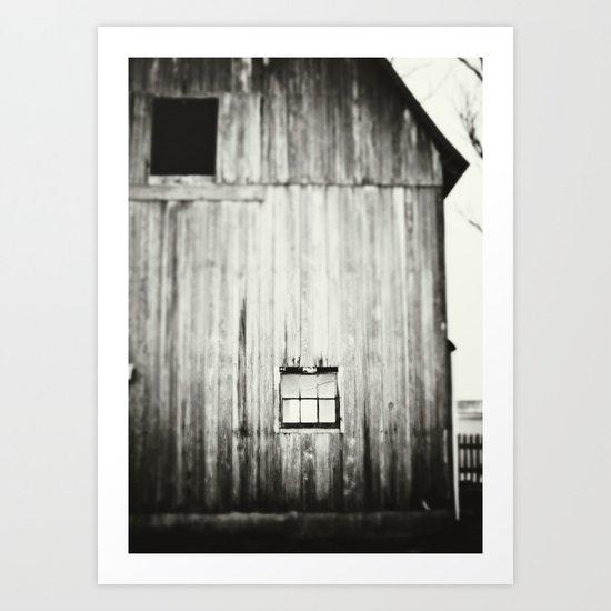 Barn Black & White Art Print