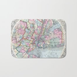 Antique New York City Map Bath Mat