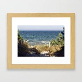 Sand Dune on the Isle of Ruegen Framed Art Print