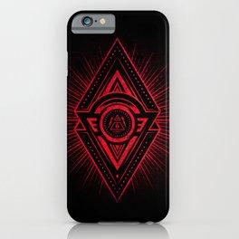 The Eye of Providence is watching you! (Diabolic red Freemason / Illuminati symbolic) iPhone Case