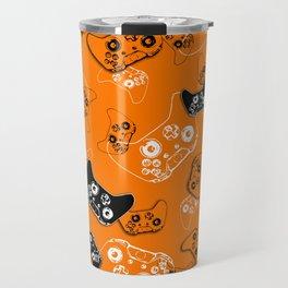 Video Game Orange Travel Mug
