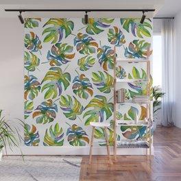 Tropical Dancing Leaves Wall Mural