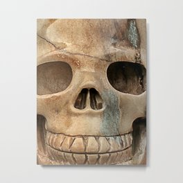 Picasso Stone Skull Metal Print