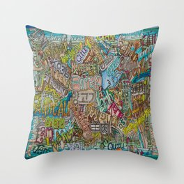 Borrego in many languages Throw Pillow