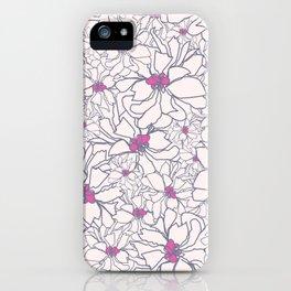 Pink Peony Garden iPhone Case