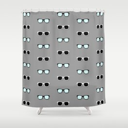 All Them Glasses - Grey Shower Curtain