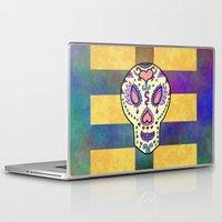 sugar skull Laptop & iPad Skins featuring Sugar Skull by Linda Tomei