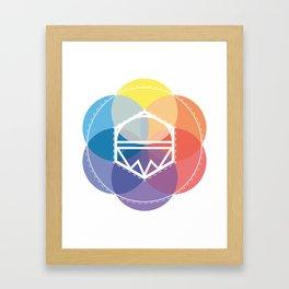 Color kaleidoskop Framed Art Print