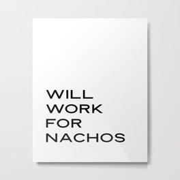 Girlboss Poster, Boss Babe Office, Blogger Poster, Freelance Hustler Gift, Work from Home Office Dec Metal Print