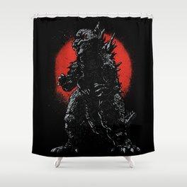 Hail Zilla Shower Curtain