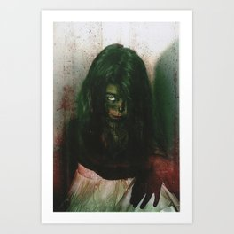 Zombie Chid  Art Print