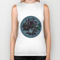 dark side of the moon Biker Tanks featuring Dark side of the moon by Ordiraptus