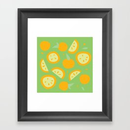 Tropical - Citrus Framed Art Print