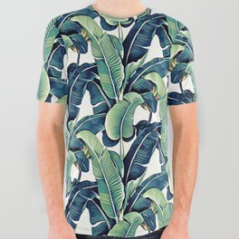 Banana leaves All Over Graphic Tee