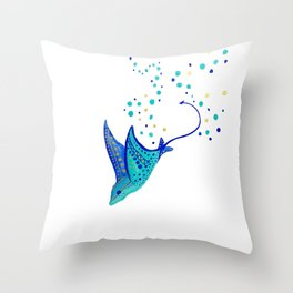 Neptune's Ray Throw Pillow