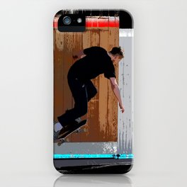 Climbing the Wall - Skateboarder iPhone Case