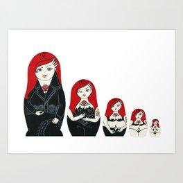 Alternative Stripper Russian Doll Art Print