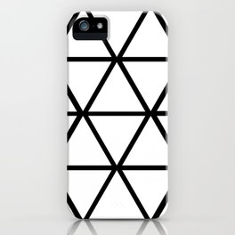 WHITE & BLACK TRIANGLES  iPhone Case