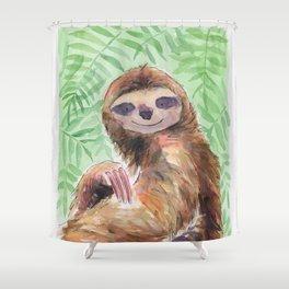 Jungle Sloth Shower Curtain